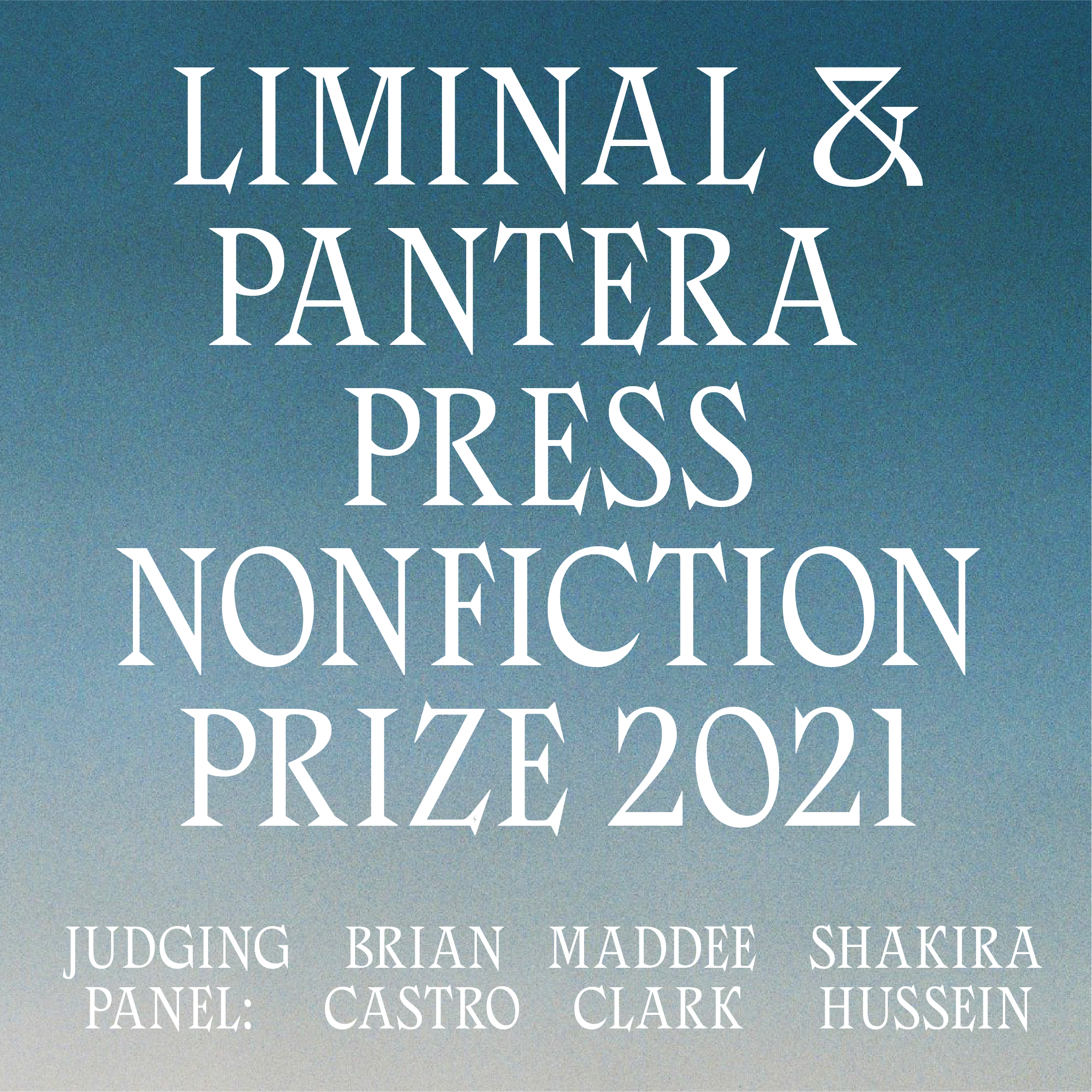 LIMINAL & Pantera Press announce nonfiction prize worth $12,000 and new anthology event image